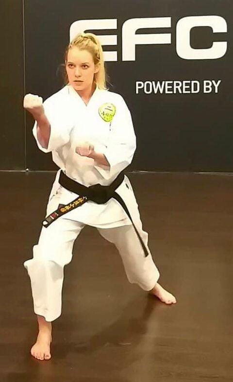 Sensei Amber Kitching - Karate in Sandton
